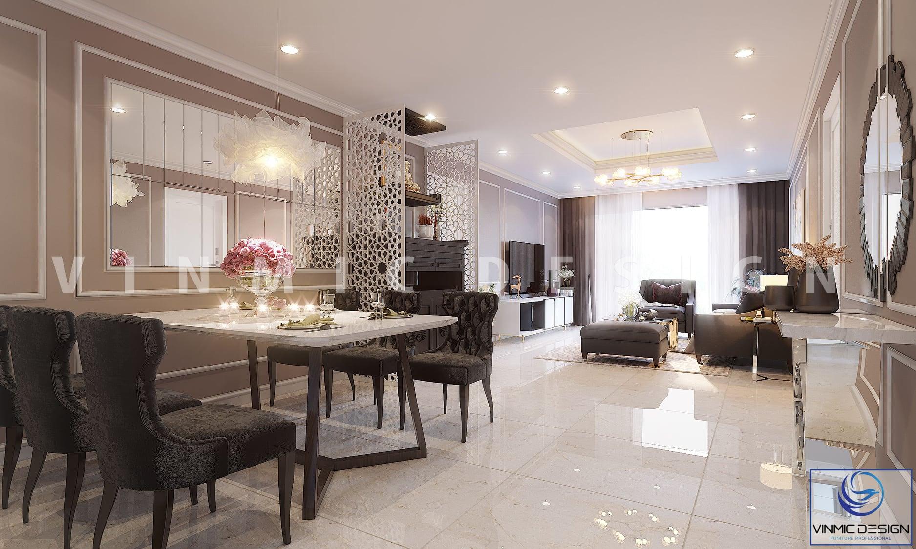 Thiết kế nội thất chung cư 90m2 đẹp