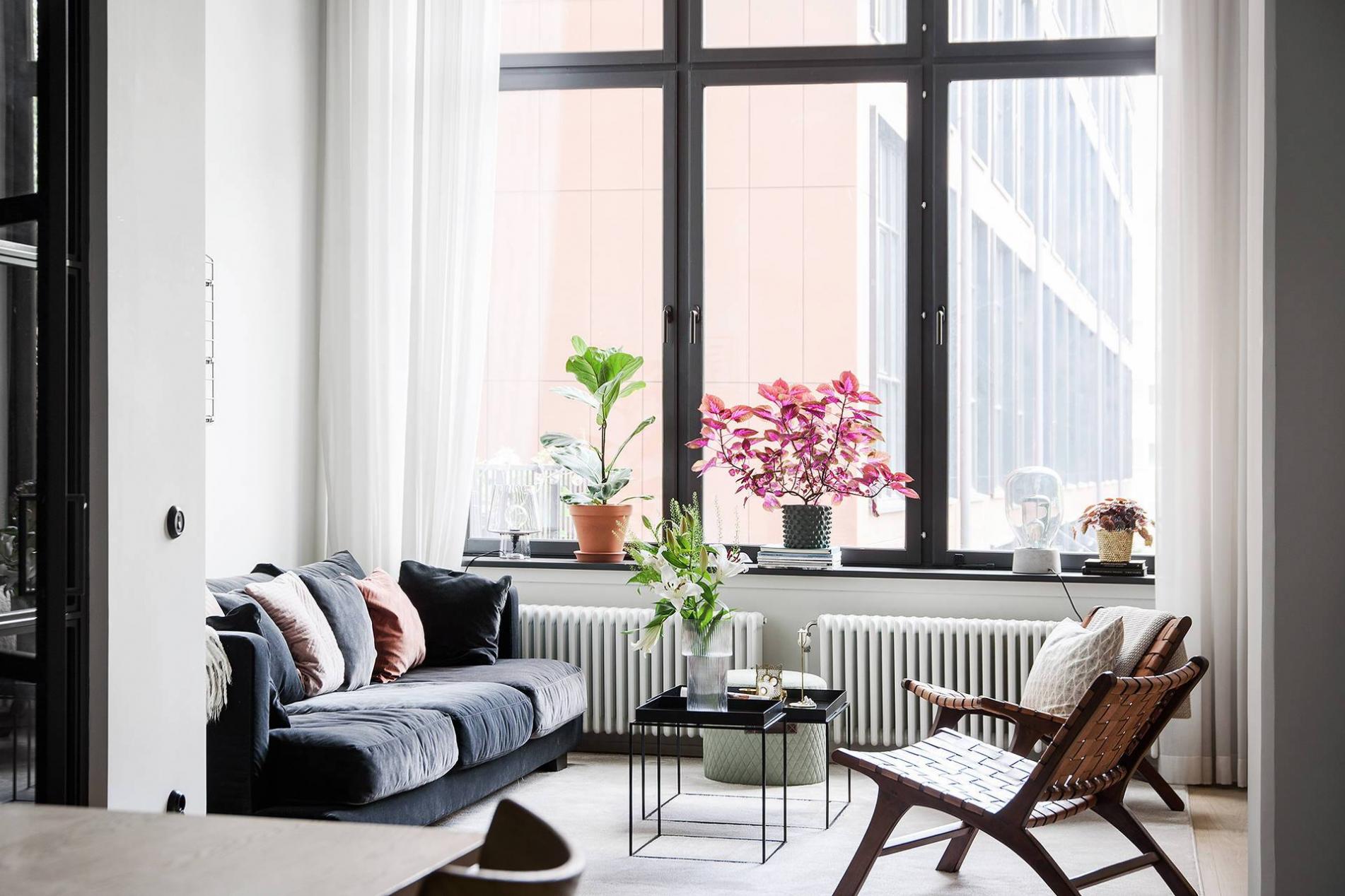 Thiết kế nội thất căn hộ chung cư 90m2 đơn giản phong cách Scandinavian