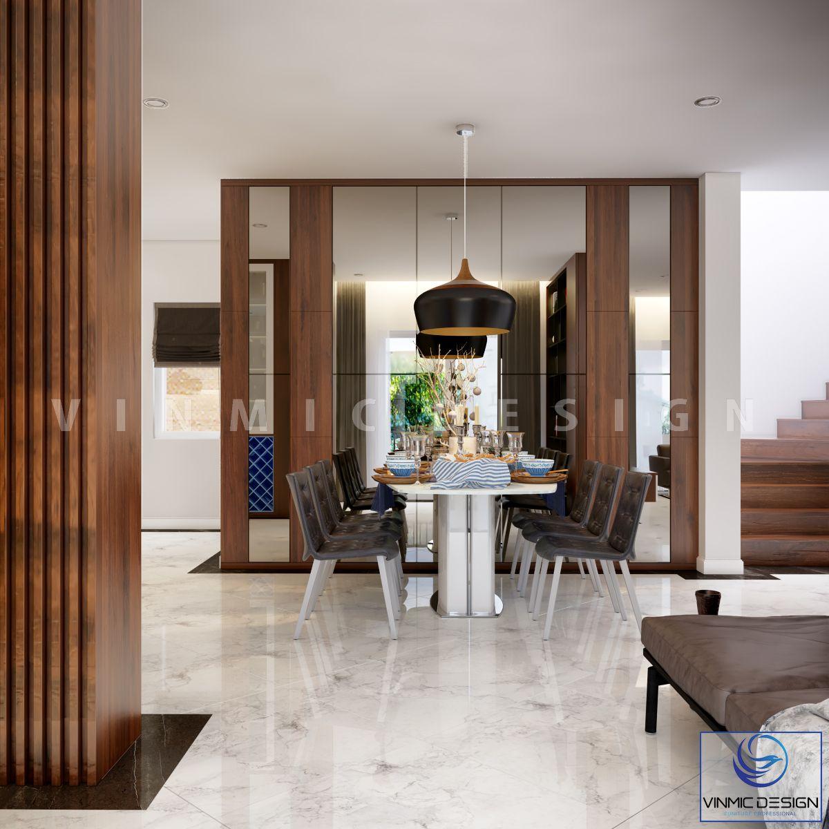 Thiết kế  nhà phố 3 tấng tại Hải Phòng với bàn ăn đẹp
