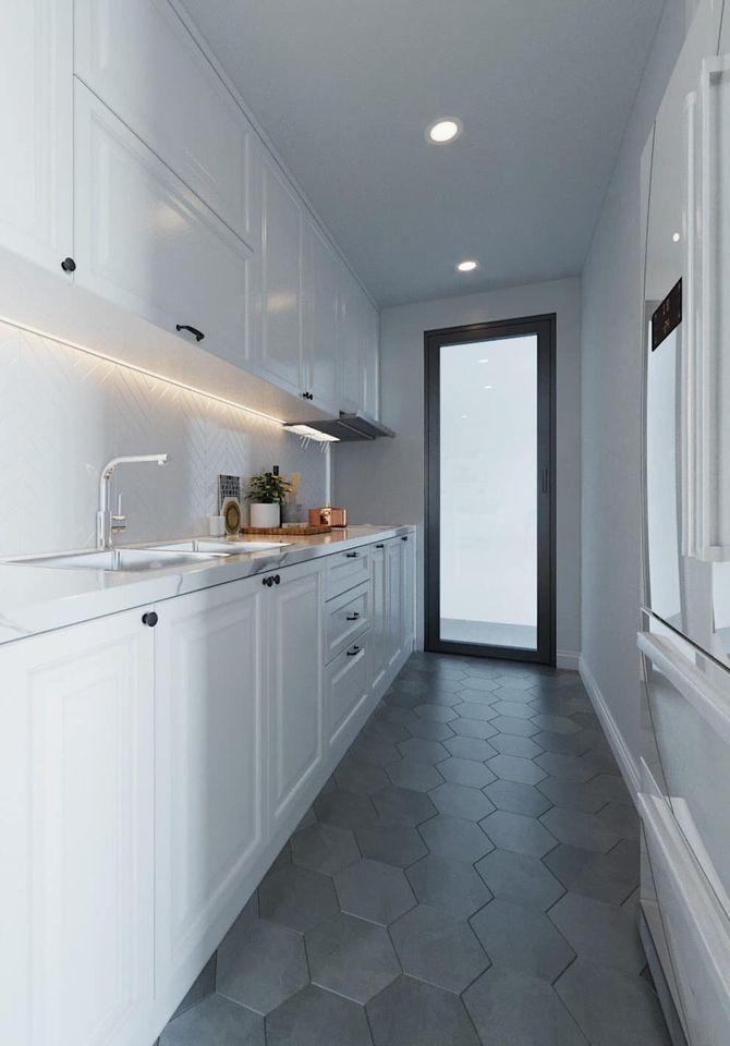 Phòng bếp đẹp cho căn hộ chung cư phong cách Scandinavian