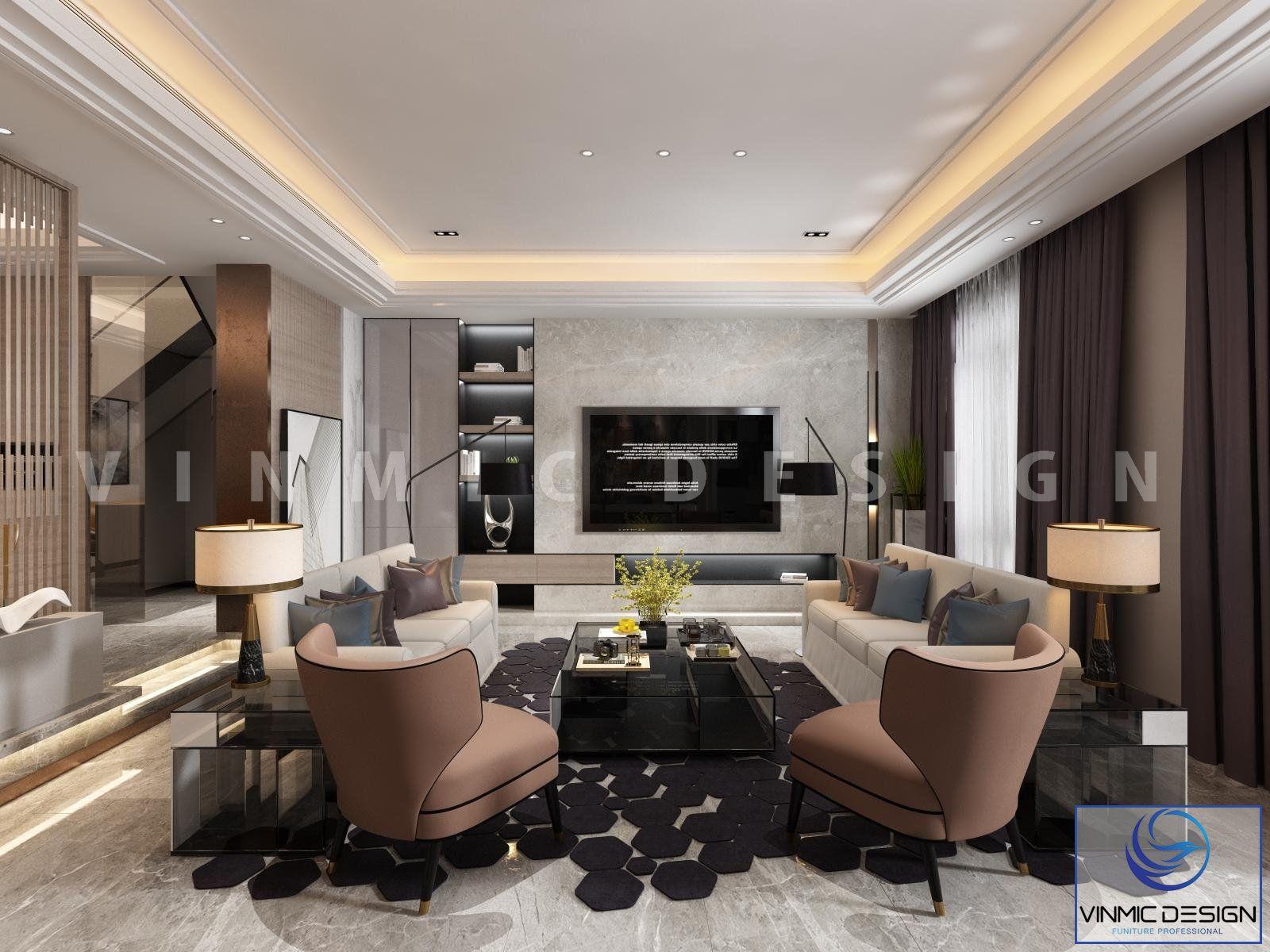 Thiết kế nội thất nhà phố tại Hải Phòng cho 2 tầng