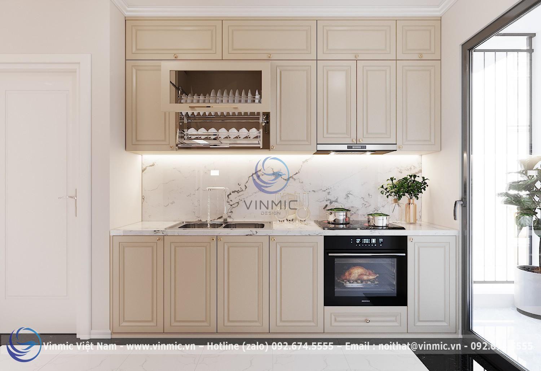 Tủ bếp đẹp cho mẫu thiết kế chung cư 90m2