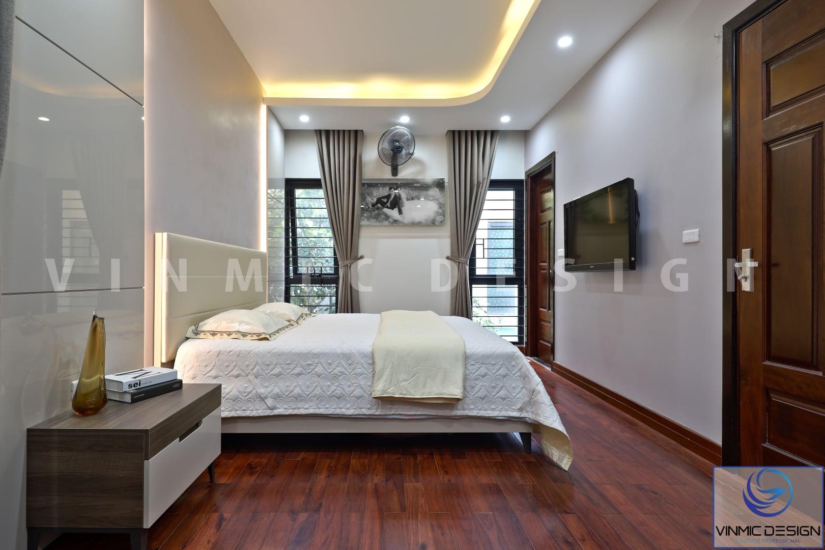 Thi công phòng ngủ đẹp cho nhà phố 4 tầng tại Hải Phòng
