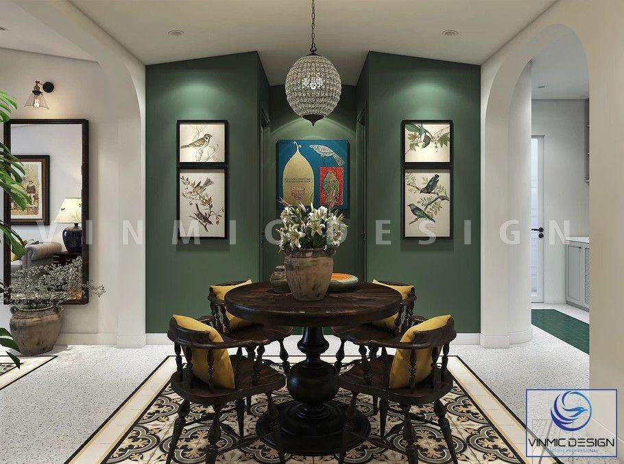 Thiết kế nội thất phòng ăn đẹp phong cách Á Đông (Indochine) ấn tượng