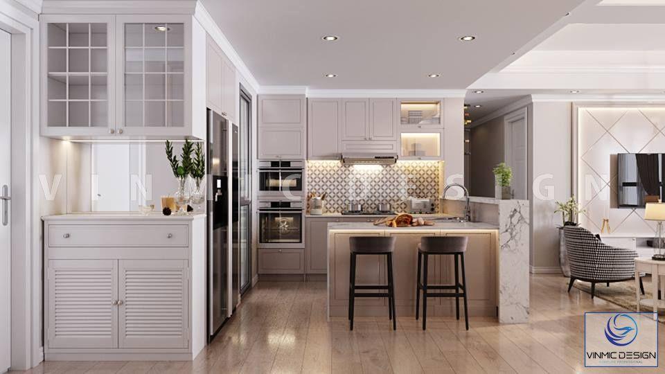 Thiết kế nội thất phòng bếp nhà chị Hương