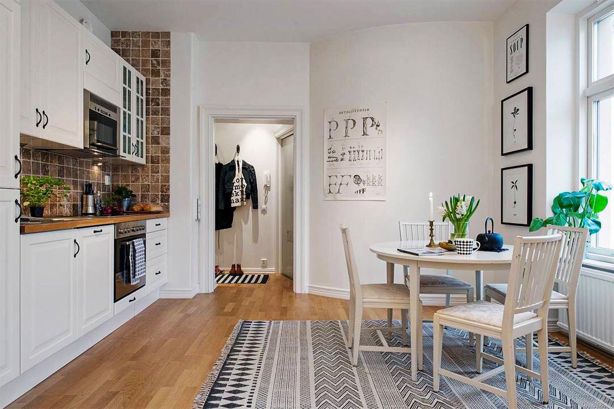 Thiết kế nội thất phòng bếp với tone màu trắng đẹp mắt