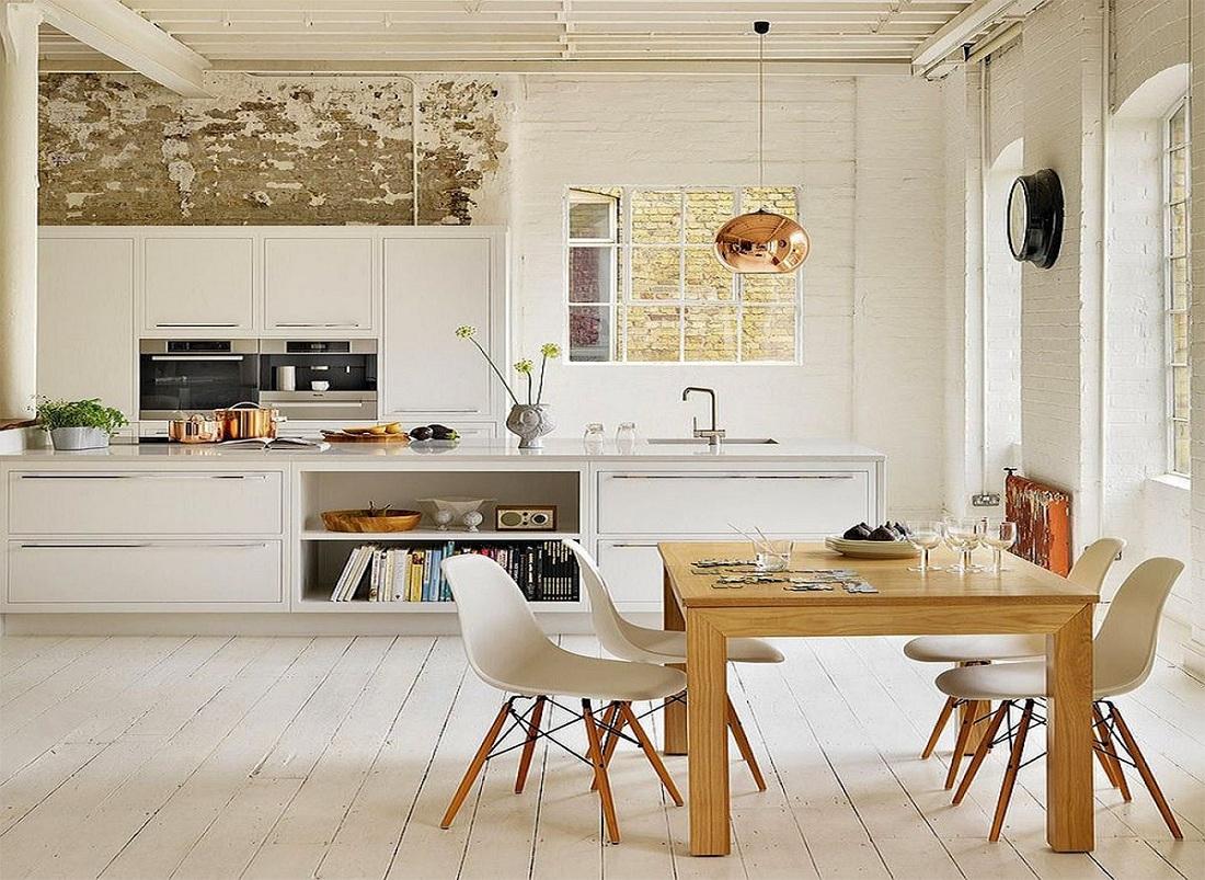 Thiết kế nội thất phòng bếp phong cách Scandinavian hài hòa giữa màu sắc và đồ nội thất