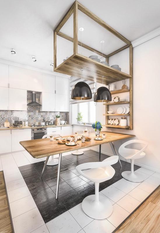 Thiết kế phòng bếp phong cách Scandinavian trẻ trung, tươi mới