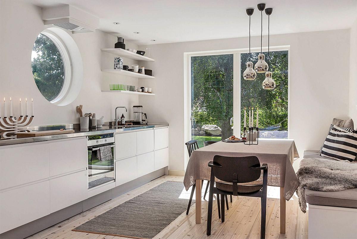 Thiết kế nội thất phòng bếp phong cách Scandinavian đẹp