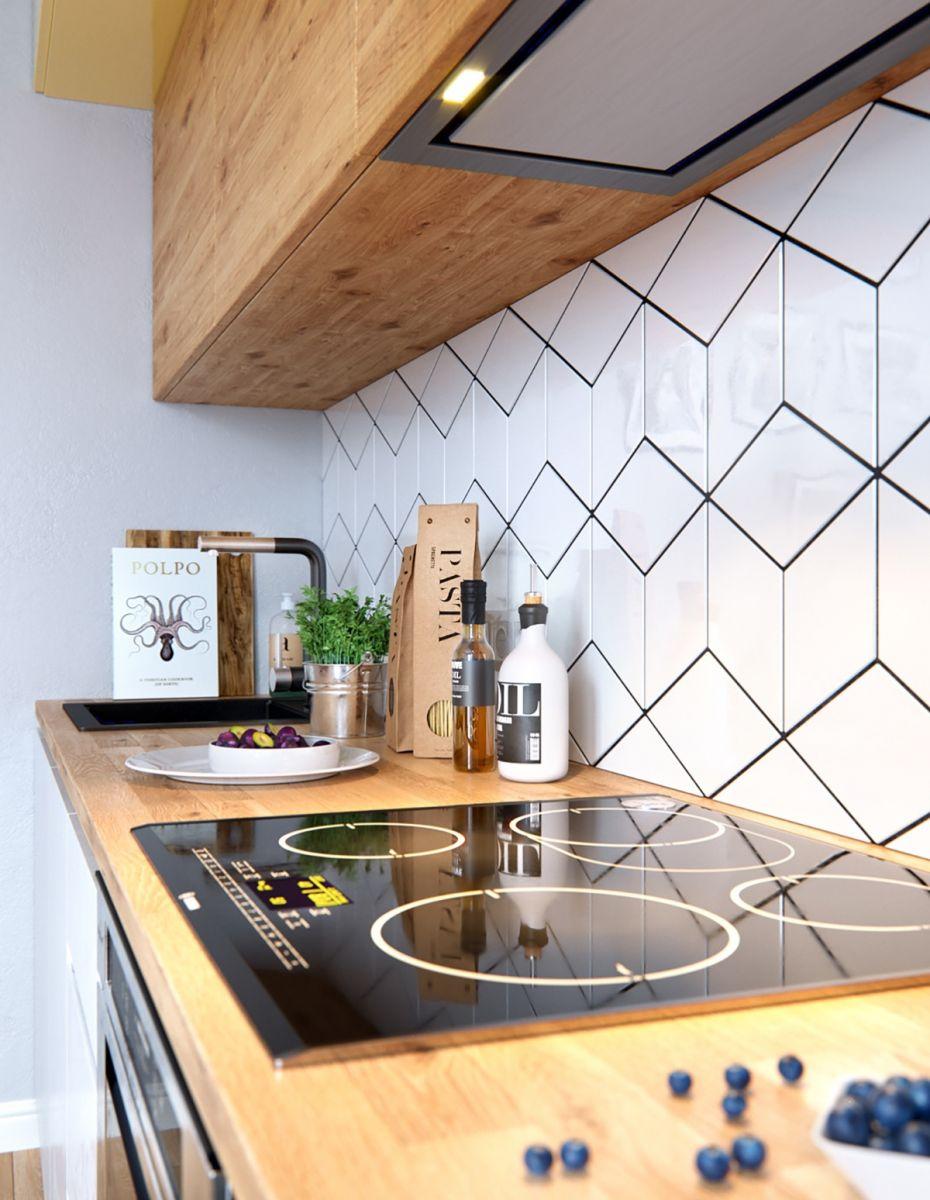 Đồ nội thất hiện đại của mẫu thiết kế phòng bếp phong cách Scandinavian