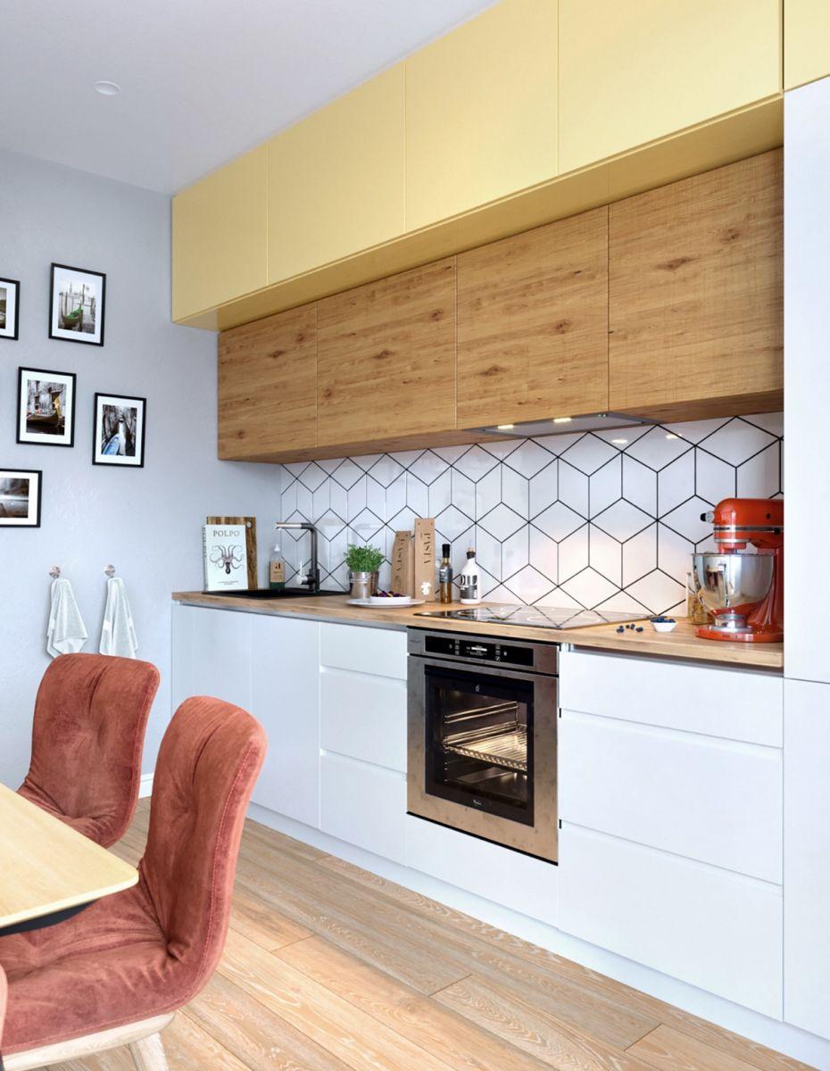 Thiết kế tủ bếp với tone màu kết hợp hài hòa
