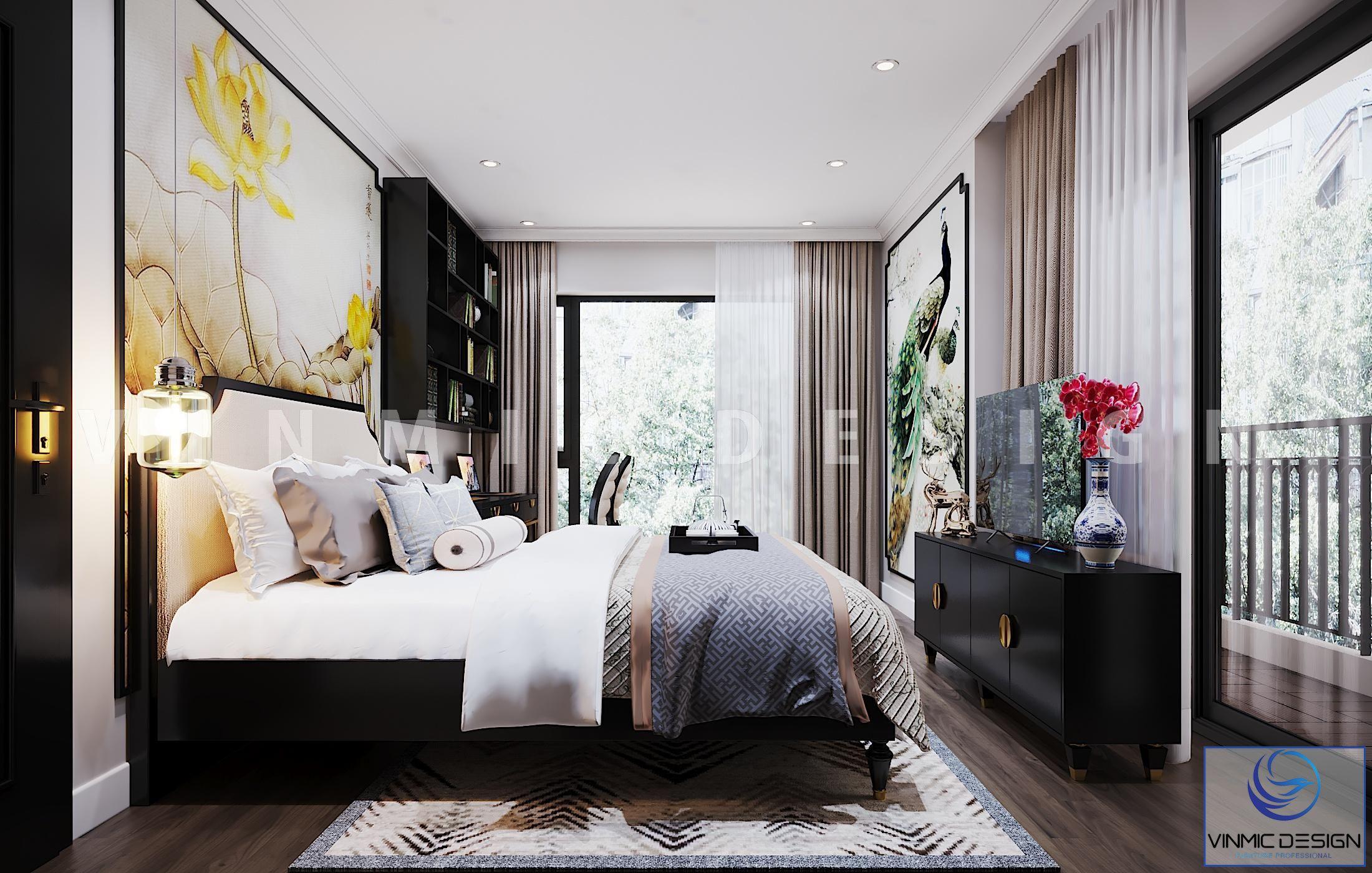 Thiết kế nội thất chung cư đẹp cho phòng ngủ tại chung cư Vinhomes Metropolis