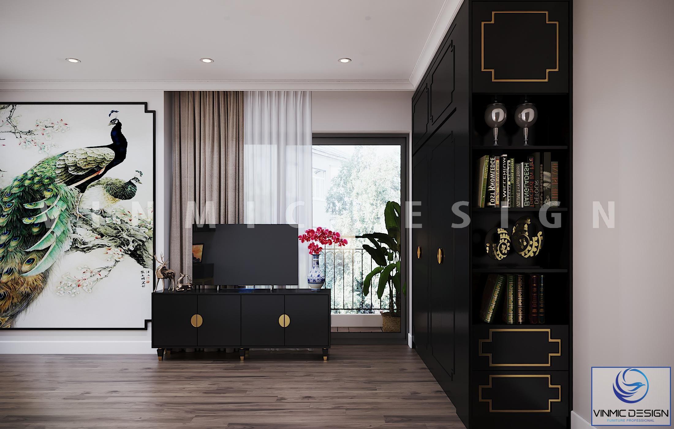 Thiết kế nội thất phòng ngủ phong cách Indochine (Á Đông) sang trọng, tinh tế
