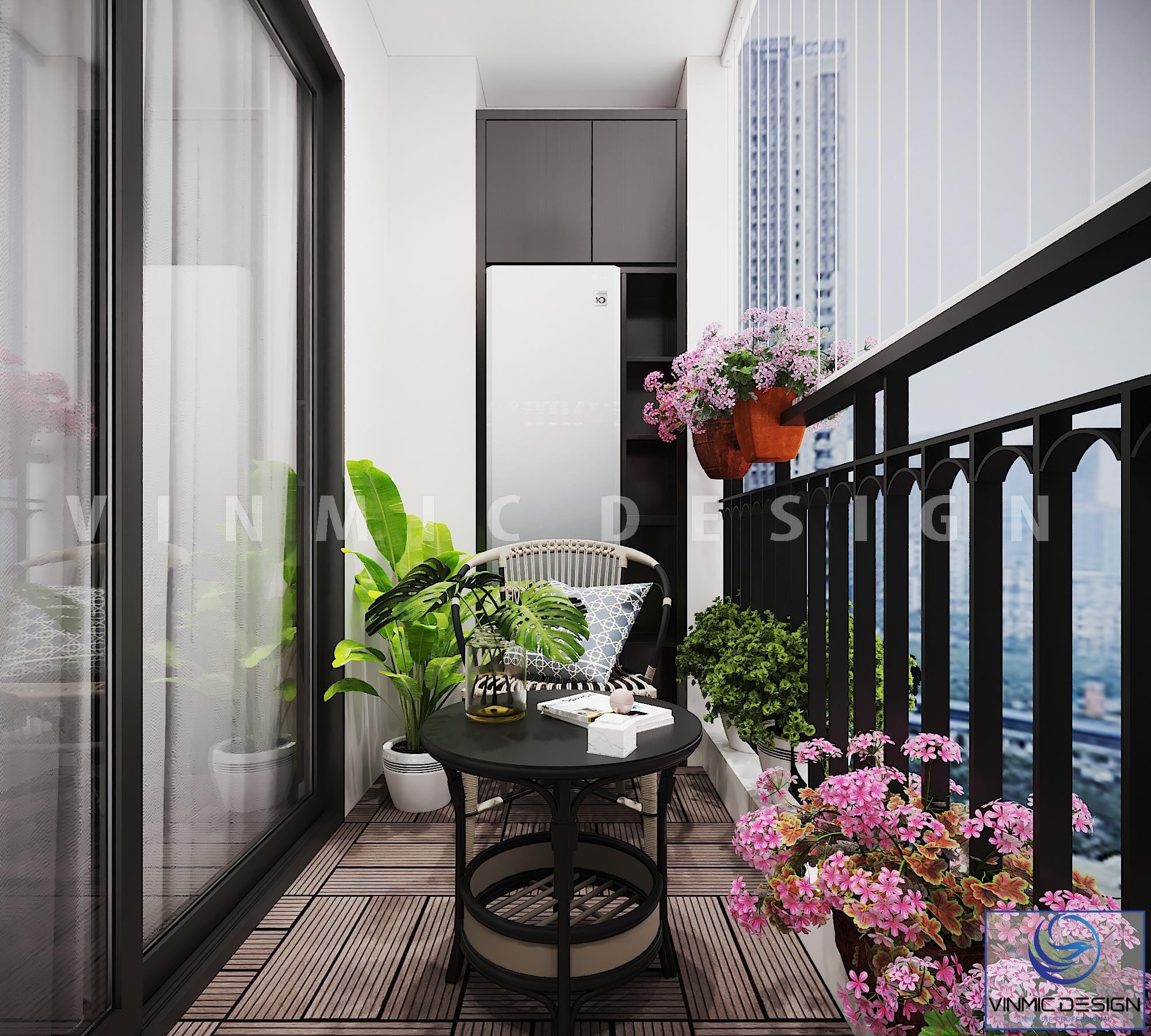 Thiết kế ban công đẹp có không gian thư giãn tại chung cư Metropolis