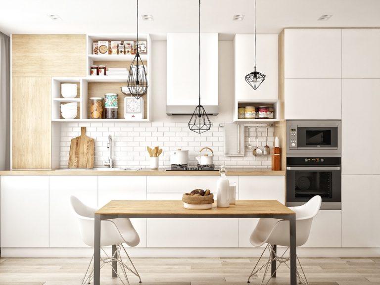 Thiết kế nội thất phòng bếp phong cách Scandinavian tinh tế