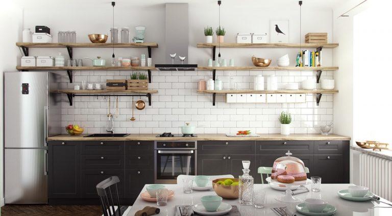 Thiết kế nội thất phòng bếp mang cái