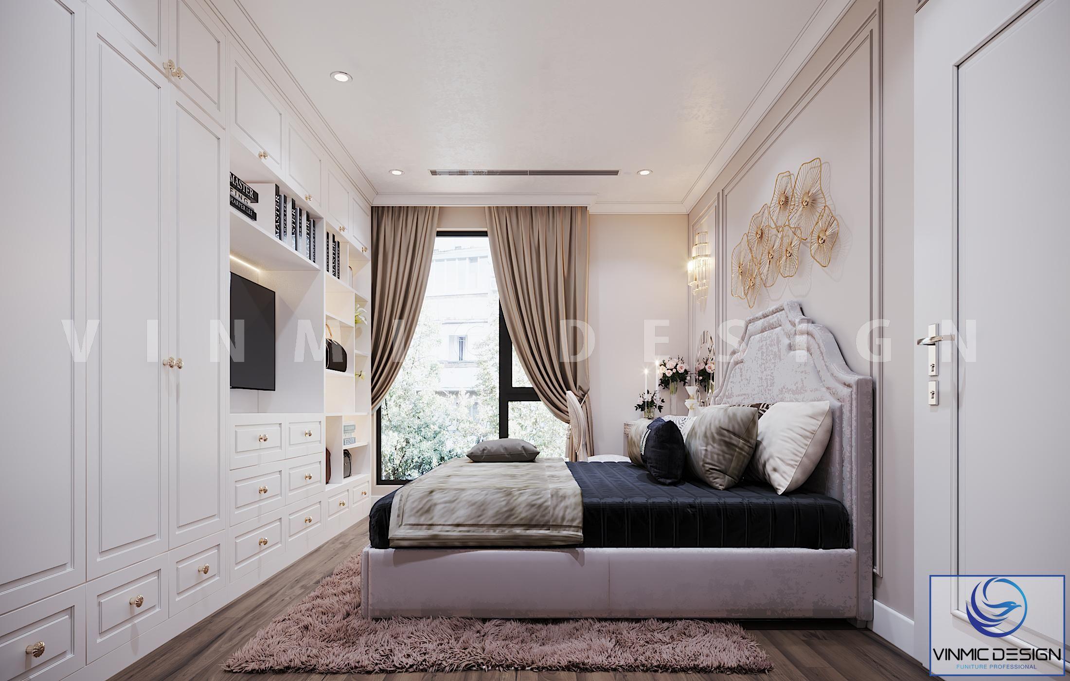 Thiết kế nội thất phòng ngủ đẹp phong cách tân cổ điển