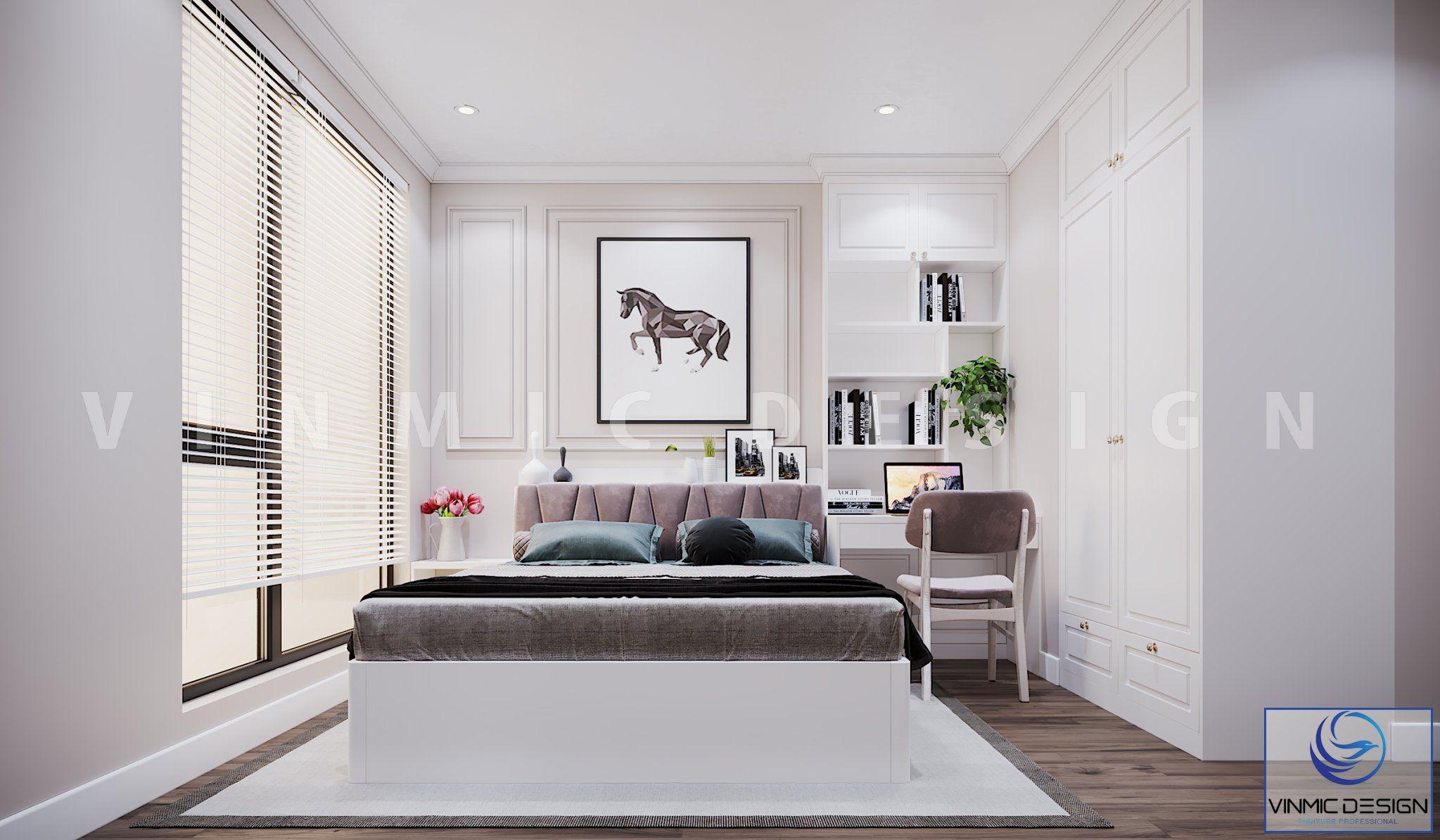 Thiết kế nội thất phòng ngủ phong cách tân cổ điển đẹp