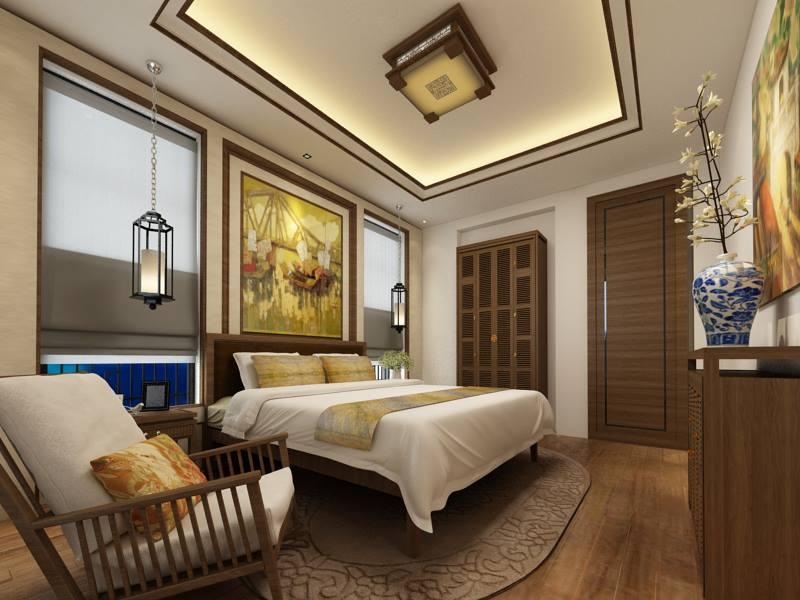 Thiết kế phòng ngủ phong cách Á Đông đẹp