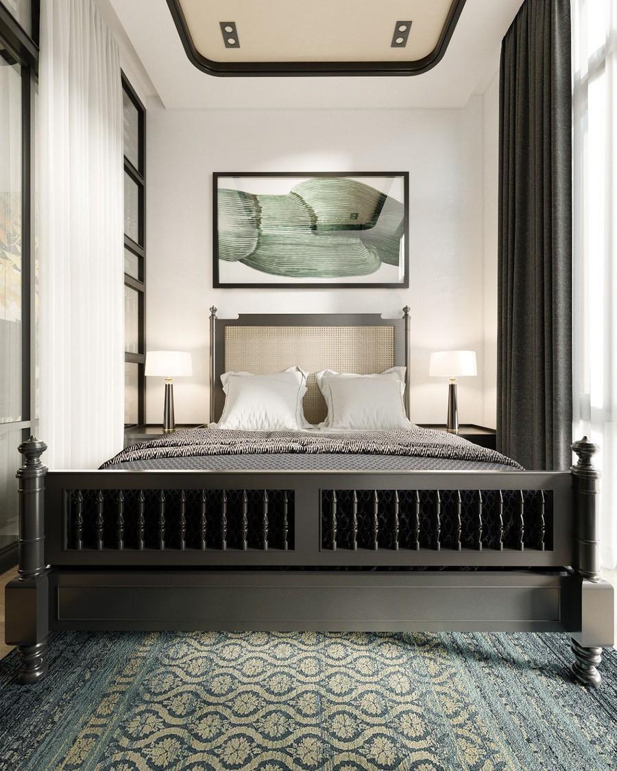 Thiết kế nội thất phòng ngủ phong cách Á Đông