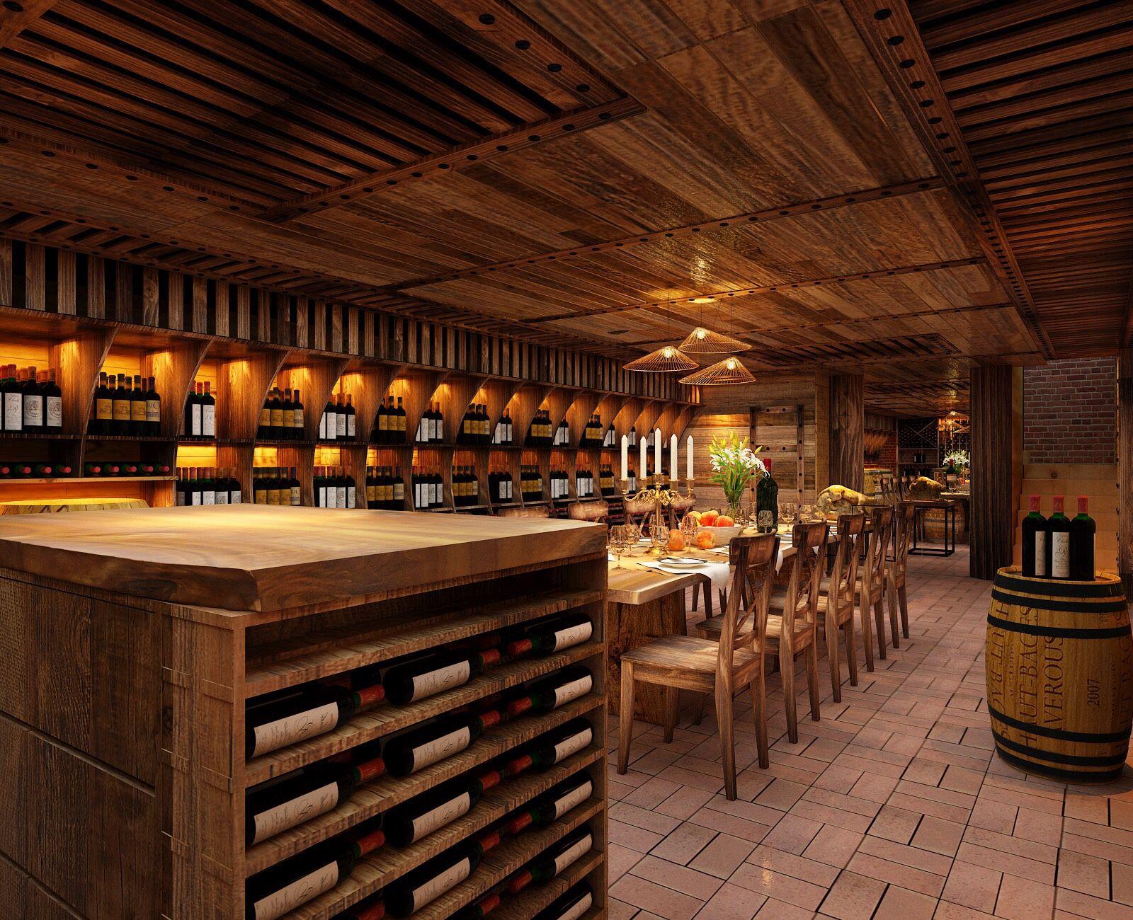 Không gian ấm cúng và lãng mạn của mẫu thiết kế nhà hàng hầm rượu