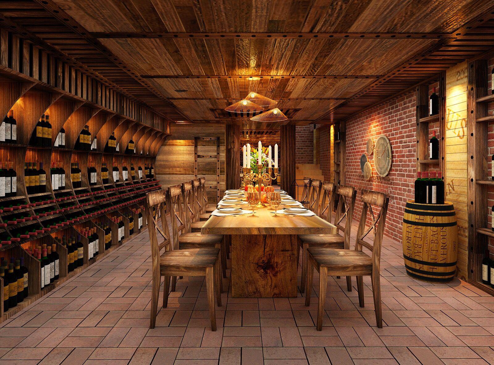 Thiết kế nhà hàng hầm rượu tinh tế và sang trọng