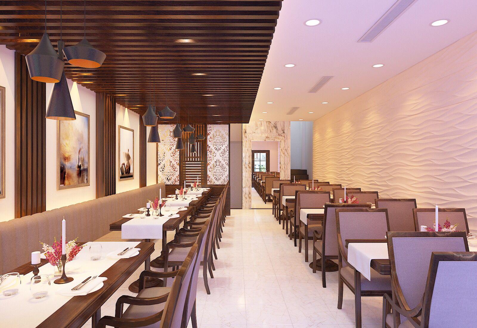 Thiết kế nhà hàng với không gian sang trọng
