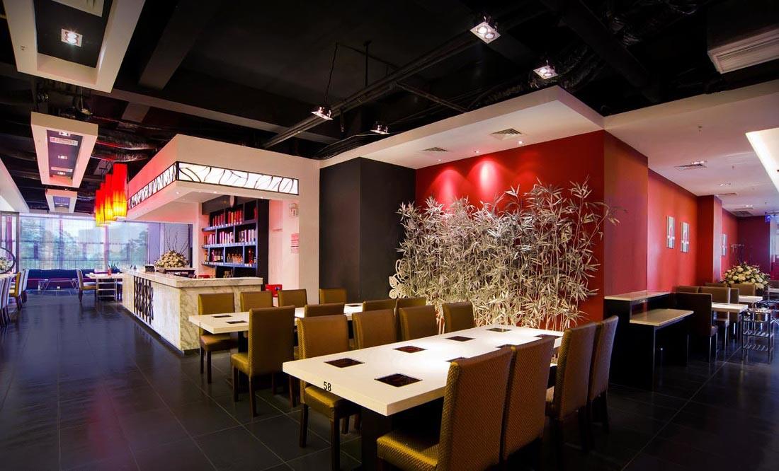 Không gian nội thất được thiết kế đảm bảo sự thông thoáng cho nhà hàng