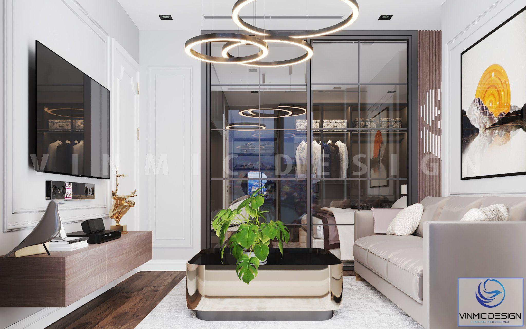 Thiết kế nội thất phòng khách đẹp tại chung cư Goldmark City