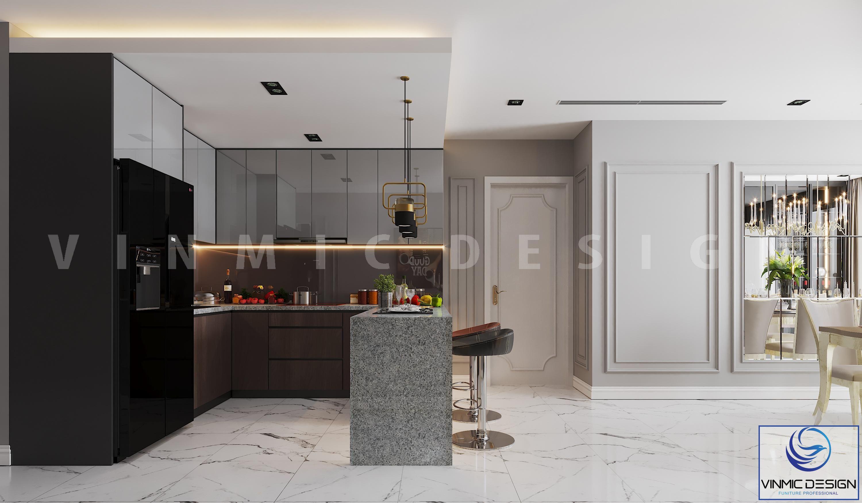 Phòng bếp sang trọng tại chung cư Goldmark City