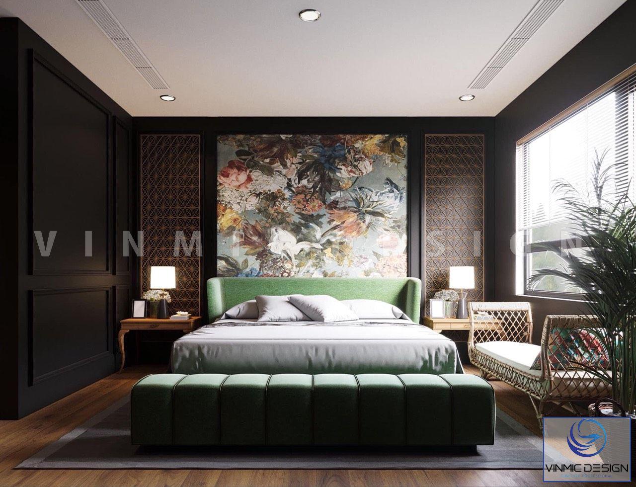 Thiết kế nội thất phòng ngủ phong cách Á Đông đẹp