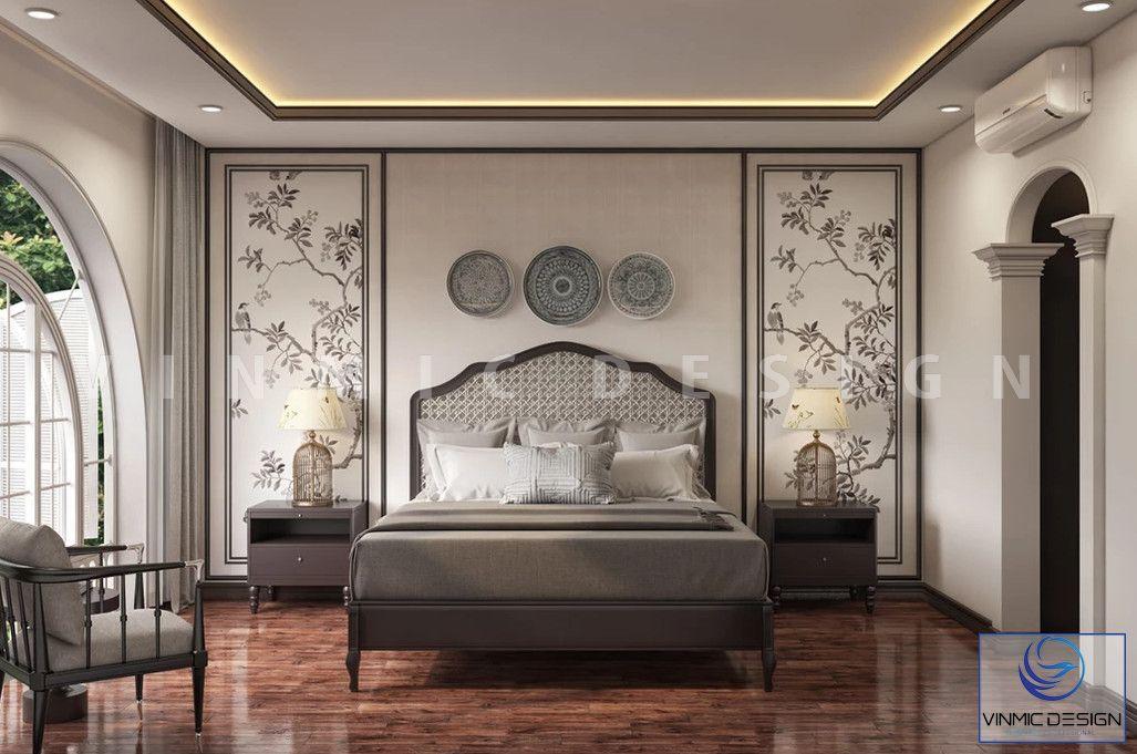 Thiết kế nội thất phòng ngủ mang đậm chất Á Đông của gia đình nhà cô Tâm