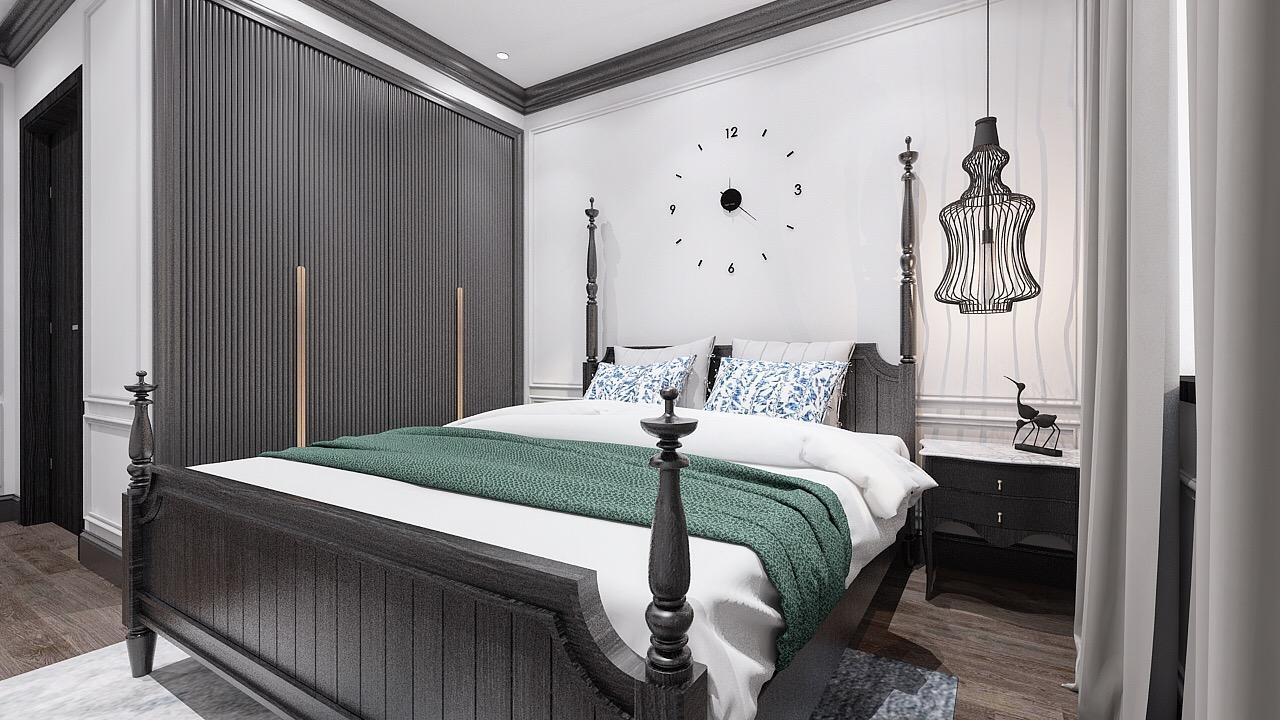 Thiết kế nội thất phòng ngủ đẹp cho căn hộ nhà cô Hoan