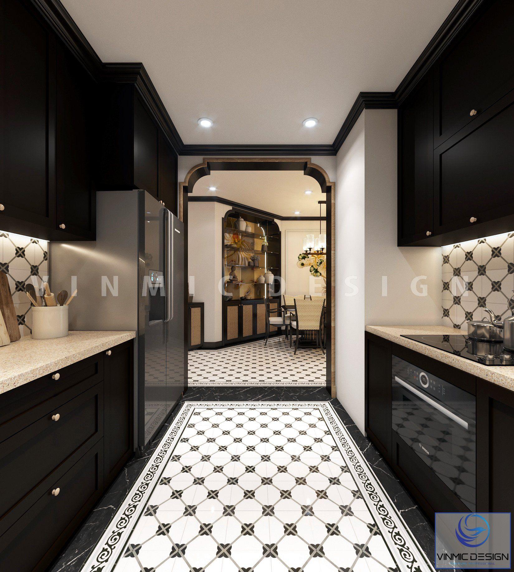 Thiết kế phòng bếp đẹp cho căn hộ tại Sunshine Garden