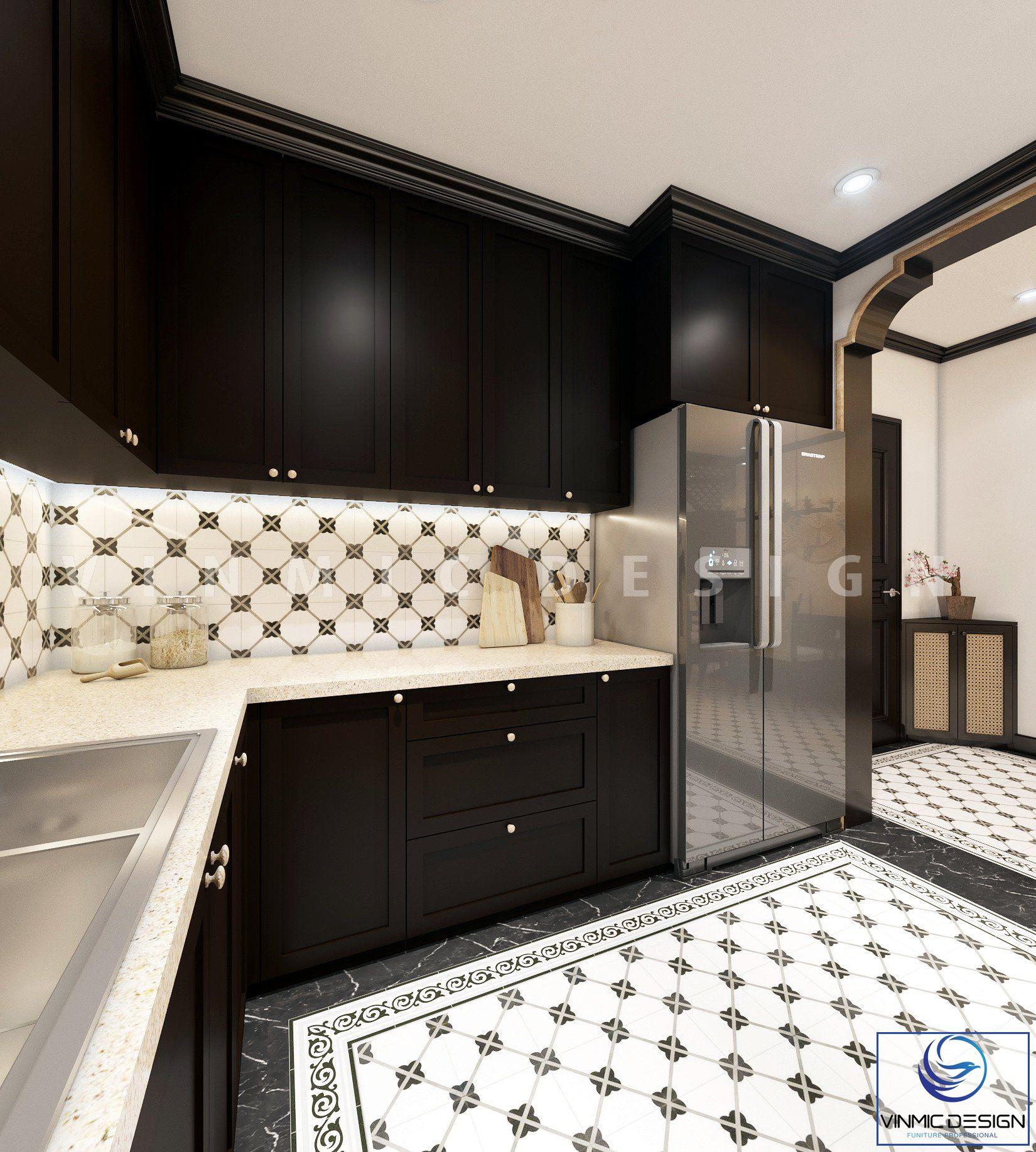 Phòng bếp tiện nghi tại căn hộ chung cư Sunshine Garden