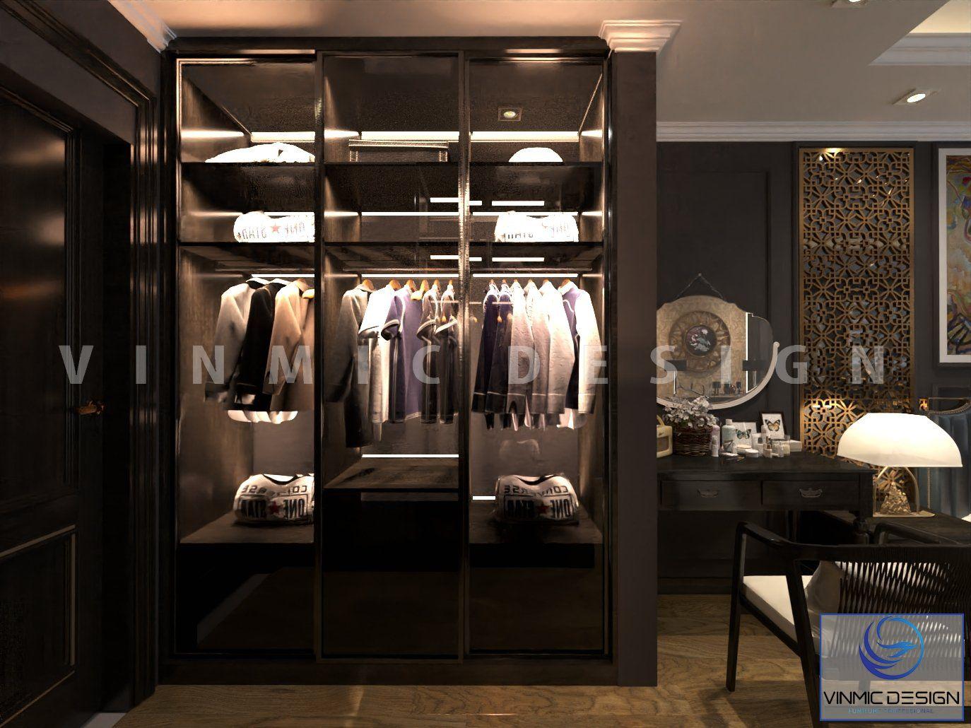 Tủ quần áo được thiết kế hiện đại cho phòng ngủ tại chung cư Sunshine Garden