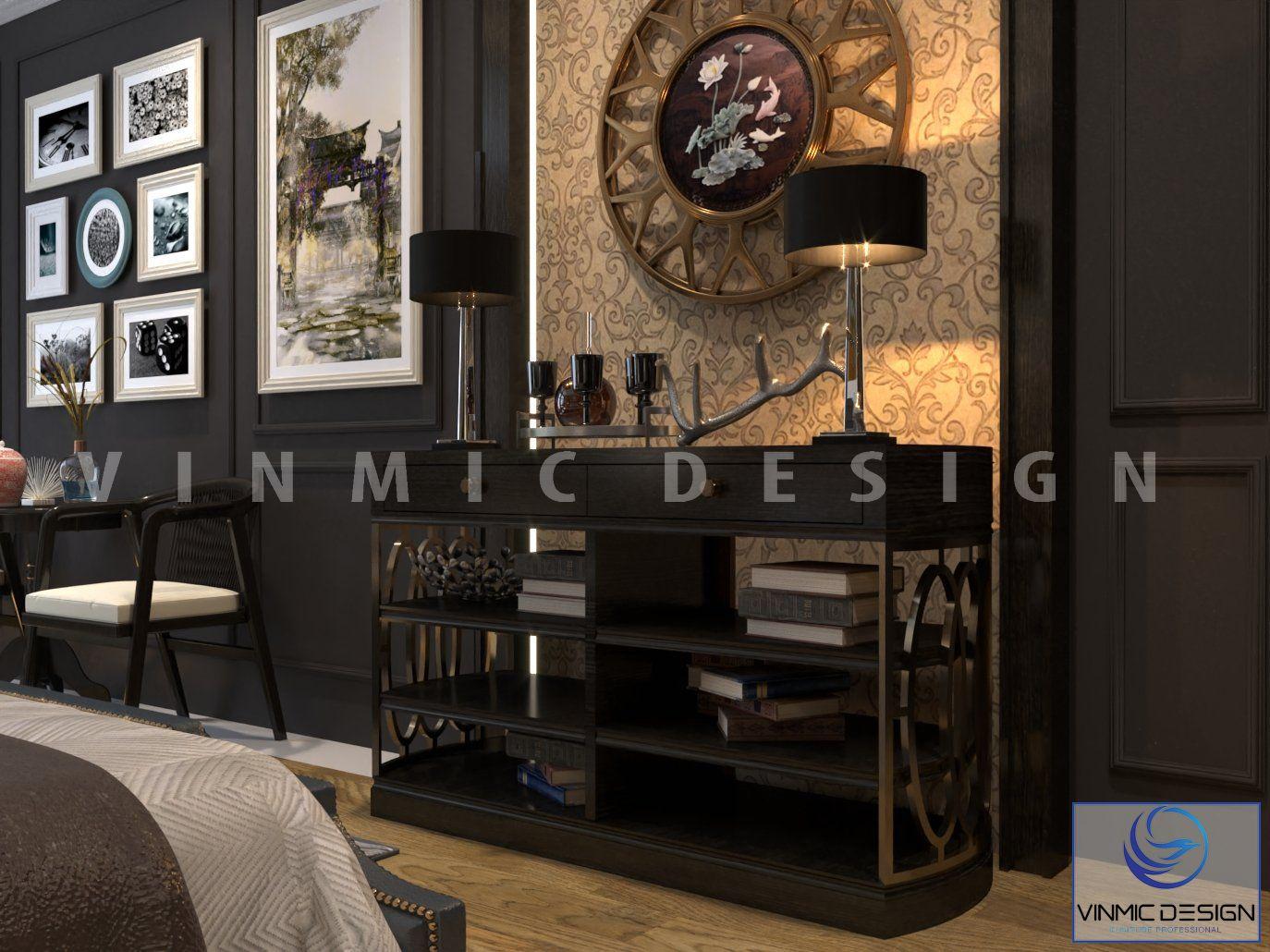 Tủ trang trí với thiết kế đẹp tại căn hộ chung cư Sunshine Garden