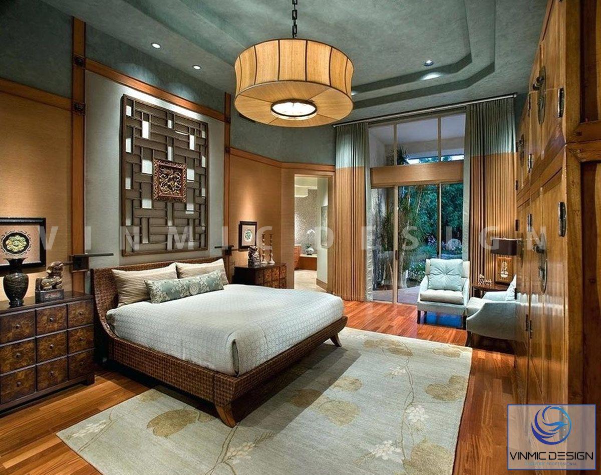 Thiết kế nội thất phòng ngủ đẹp phong cách Indochine