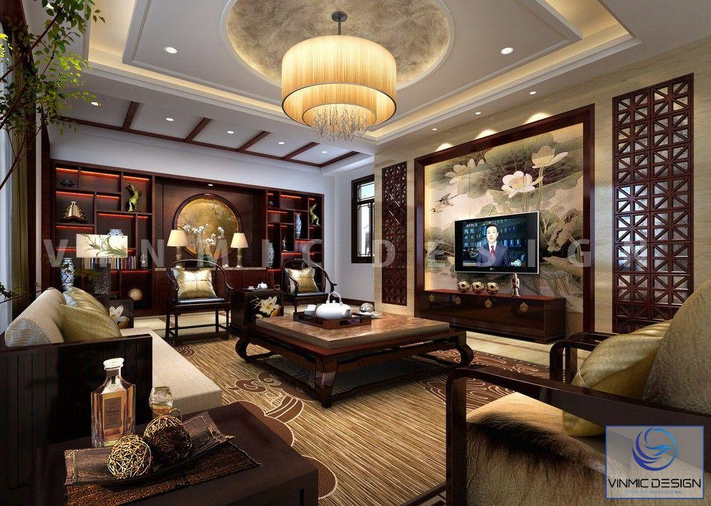 Thiết kế phòng khách phong cách Indochine sang trọng và tinh tế