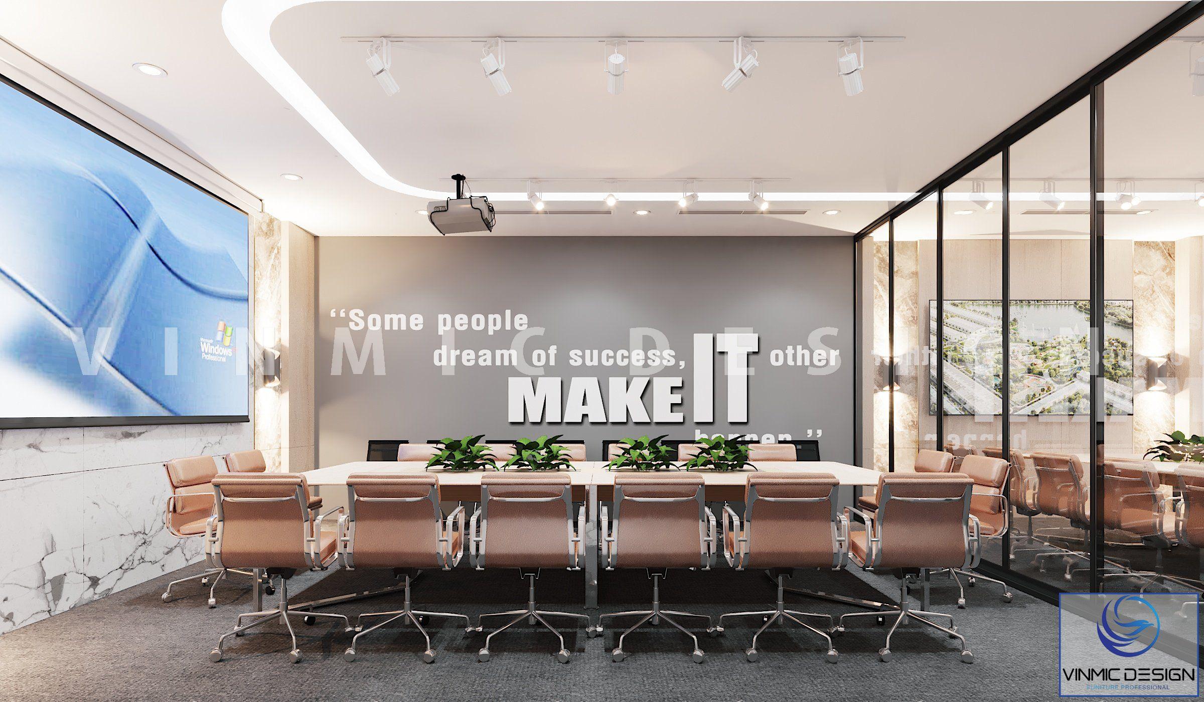 Thiết kế nội thất phòng họp vươn tầm quốc tế của văn phòng Đấy Xanh