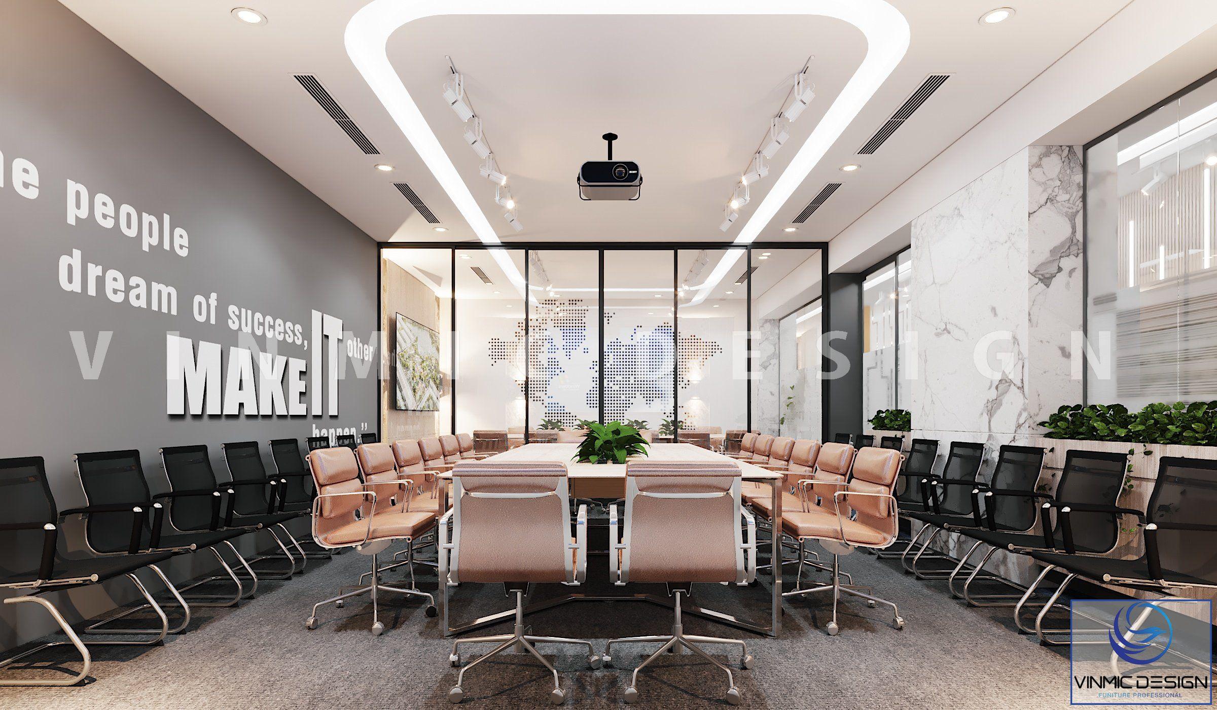 Thiết kế phòng họp quy mô lớn tại văn phòng Đất Xanh