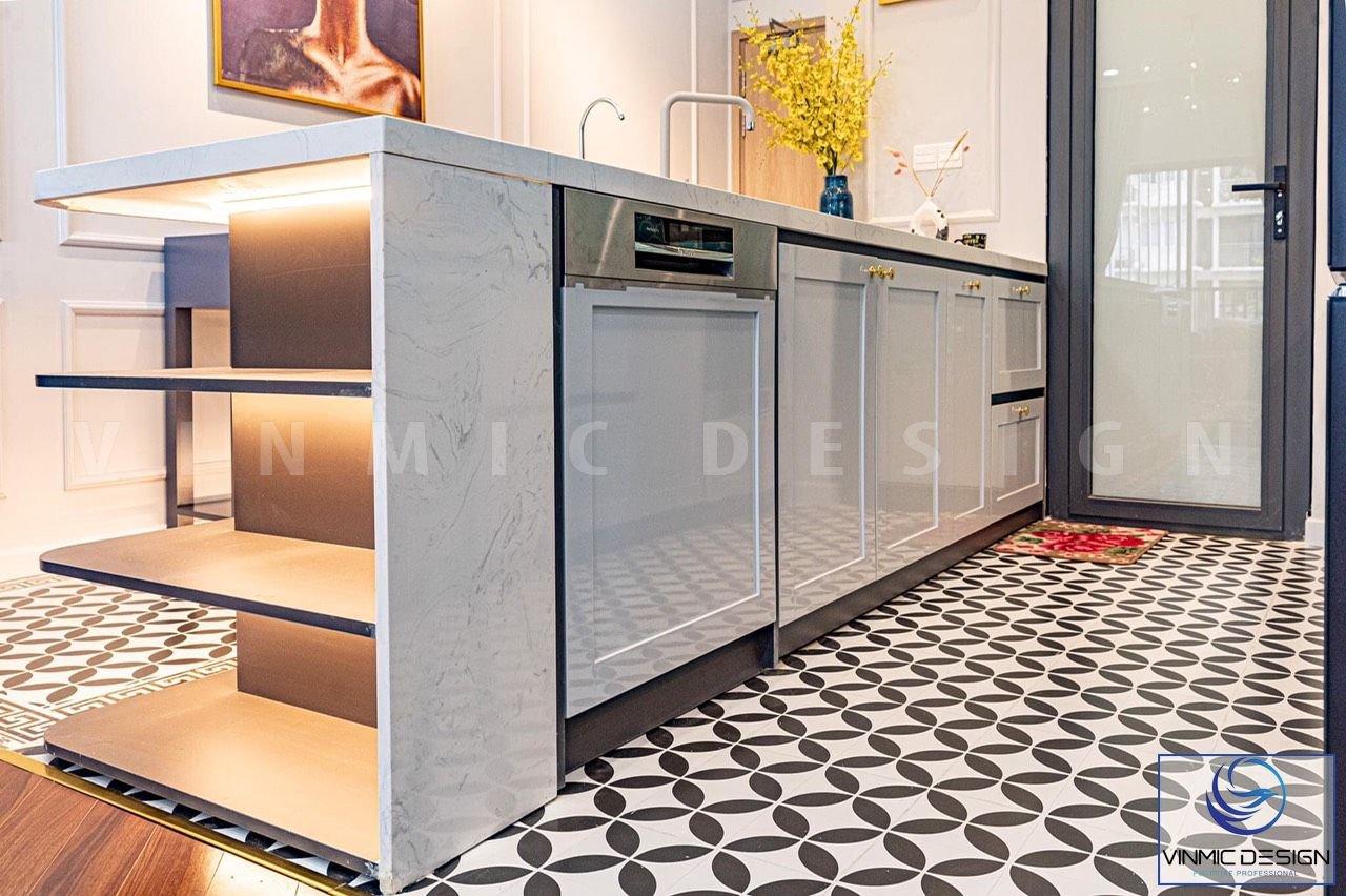 Vật liệu thi công phòng bếp cao cấp.