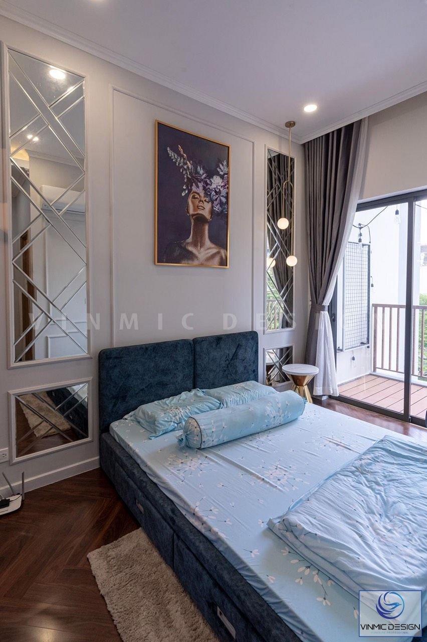 Thiết kế phòng ngủ chung cư tân cổ điển tinh tế sang trọng.