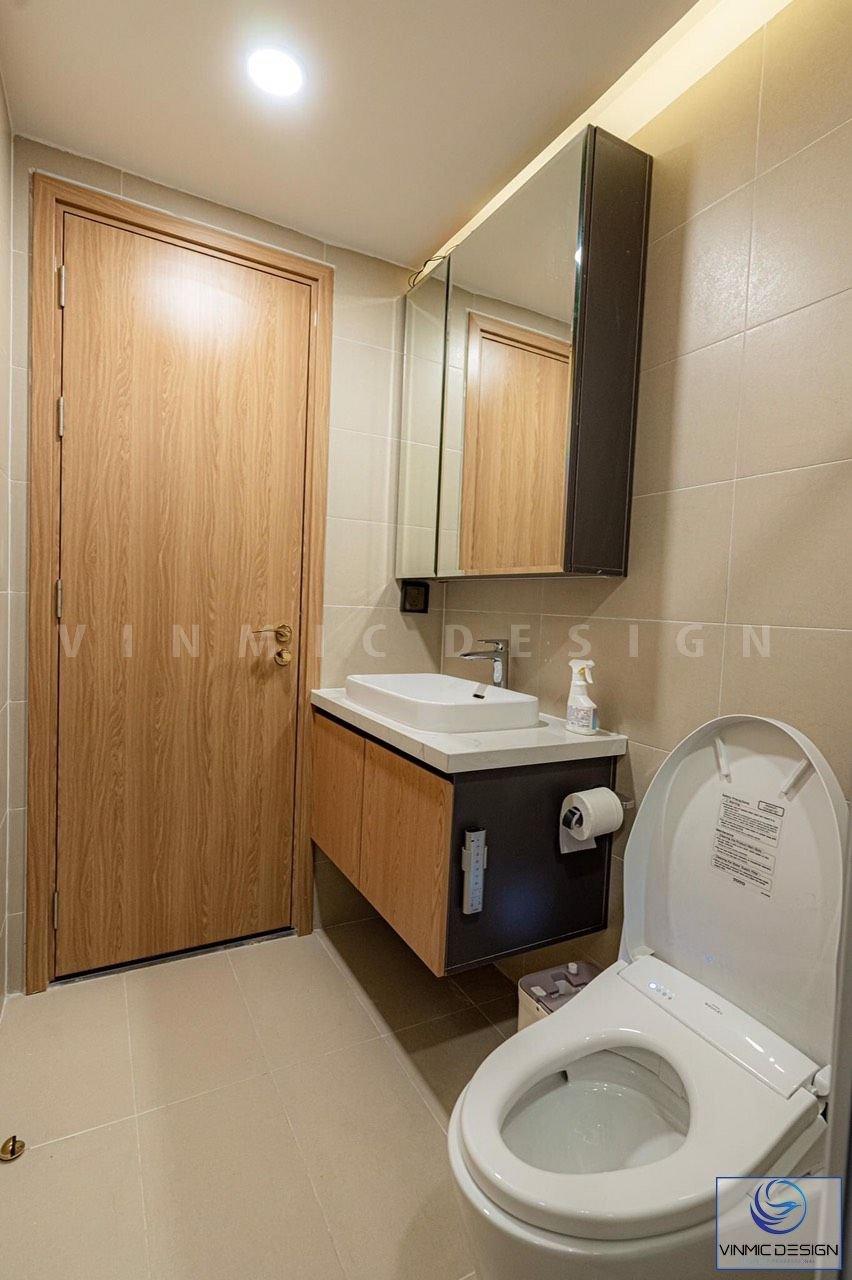 Thiết kế phòng vệ sinh đơn giản.