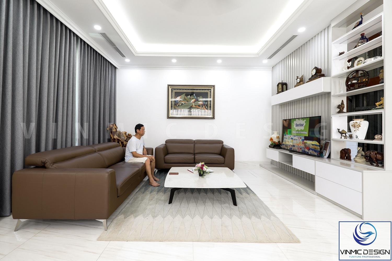 tổng thể không gian phòng khách.