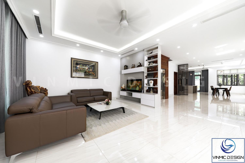 Phòng khách được bố trí tối ưu mang lại không gian rông rãi.