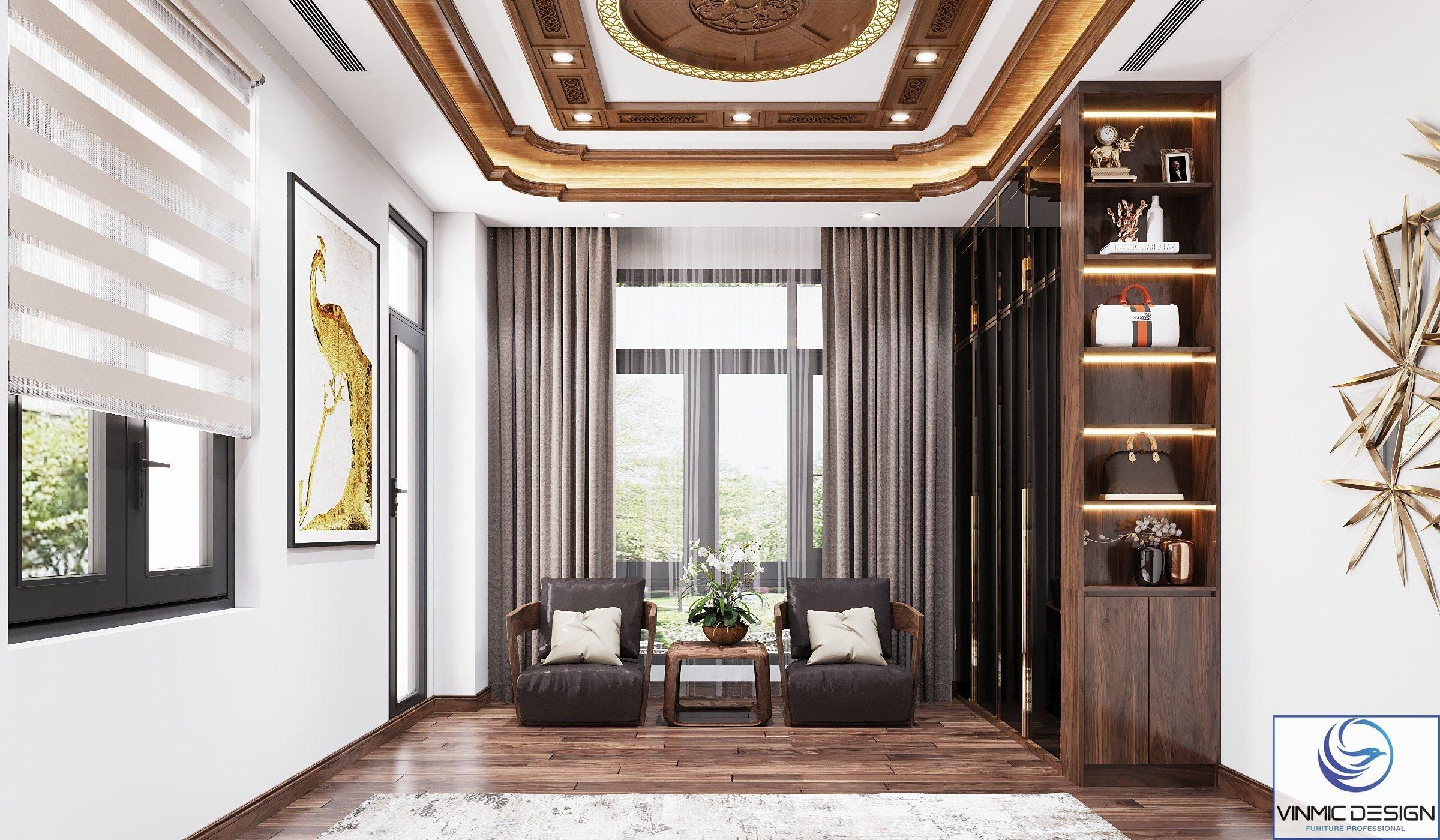 Phòng ngủ của biệt thự tại tỉnh Bắc Ninh.