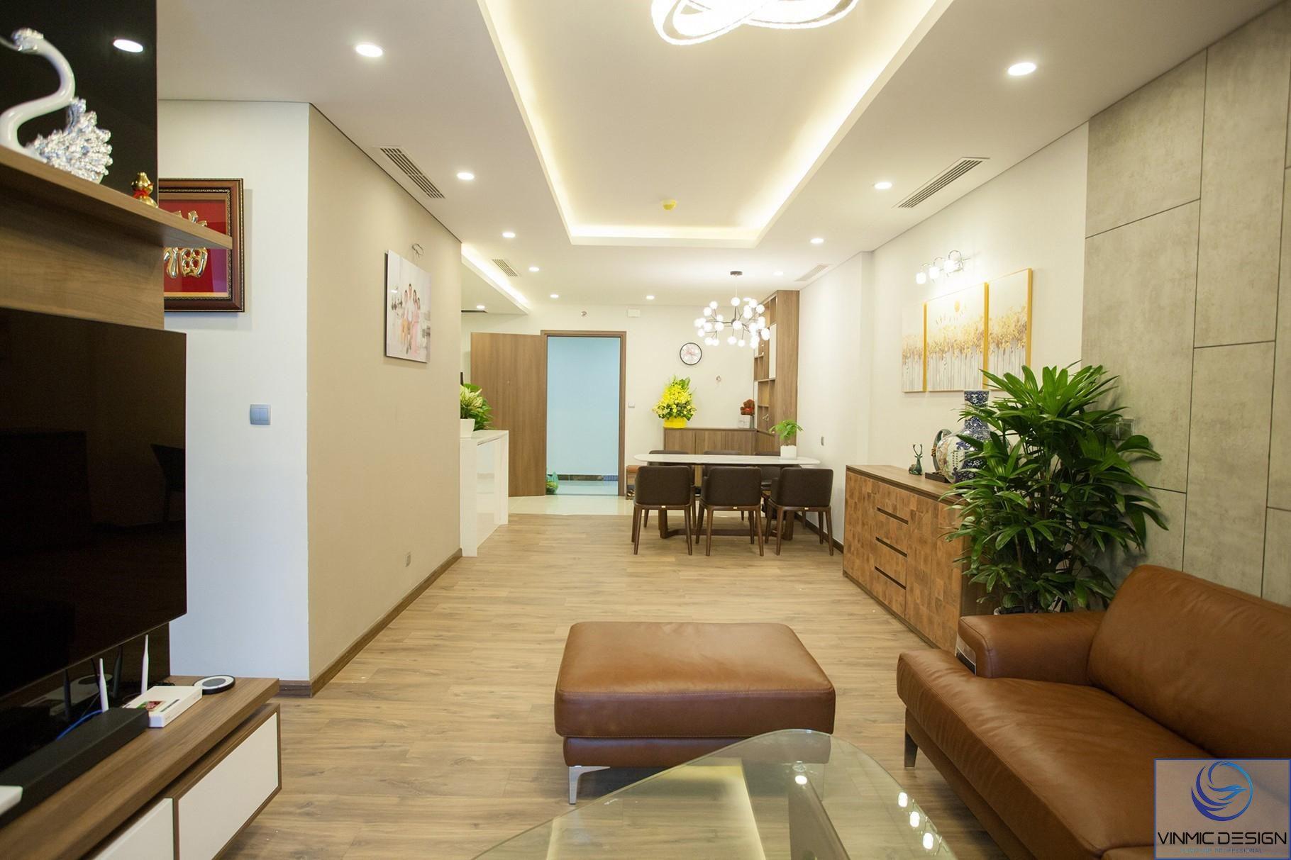 Tổng thể căn hộ được thiết kế đơn giản mà không kém phần sang trọng.