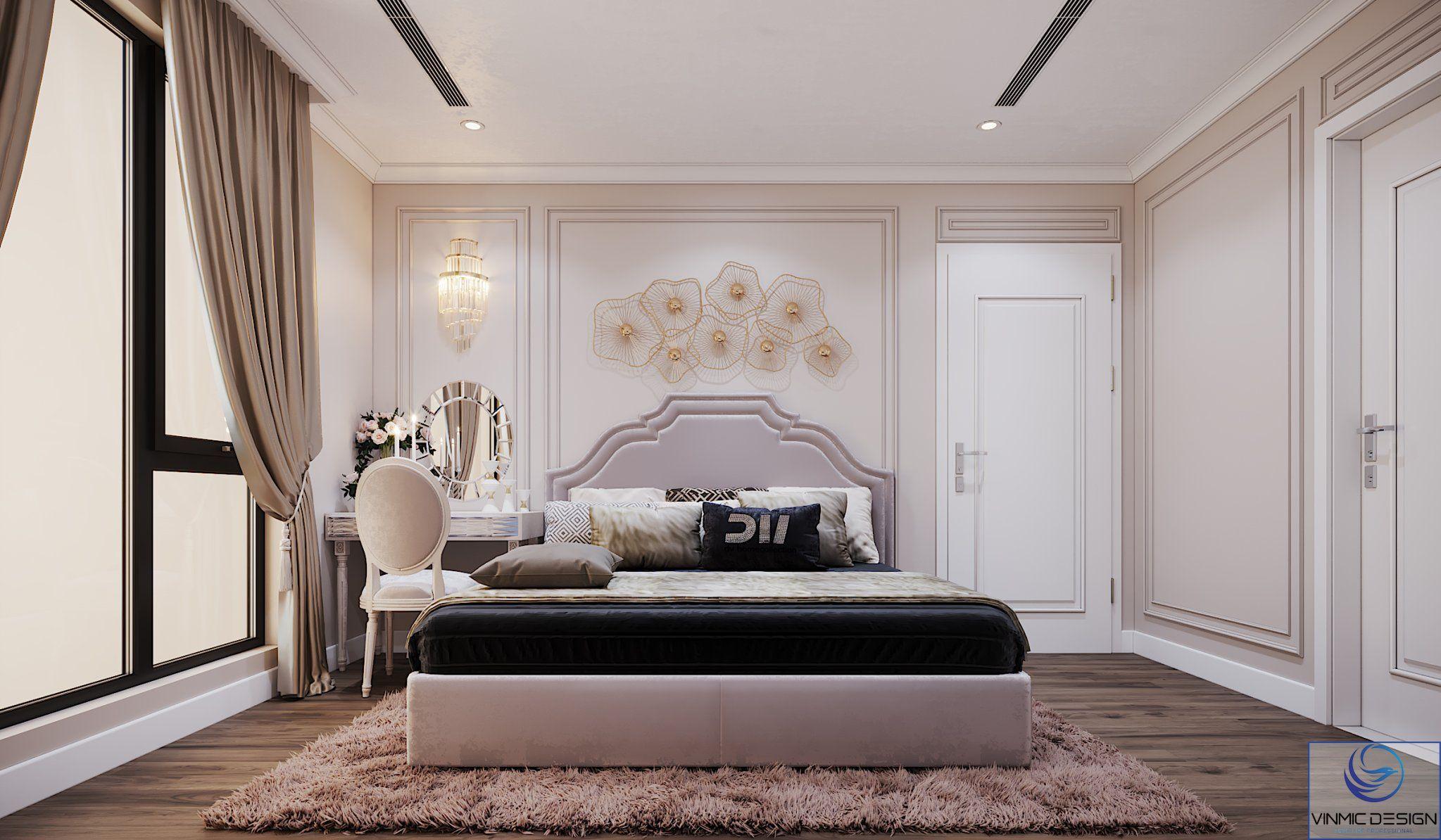 Thiết kế phòng ngủ với tôn màu tươi, tạo không gian thoải mái để nghỉ ngơi.