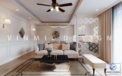 Thiết kế nội thất chung cư phong cách tân cổ điển sang trọng